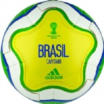 WC World Cup 2014 Capitano BRAZIL Soccer Ball Brand New Yellow Size 5
