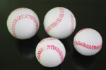 Logo printing PU foam stress ball baseball for kids