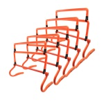 Trademark Innovations multicolor Adjustable Speed Training Hurdles (Set of 5)